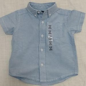 Children's Place Short Sleeve Button down sz 9-12M